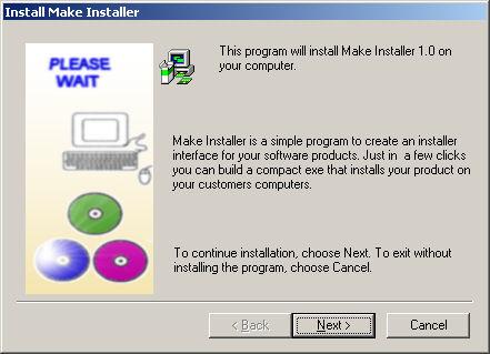 MakeInstaller, an easy install program for your software